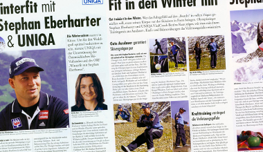 Bettina Kurz in der UNIQA-Beilage, Winter 2002